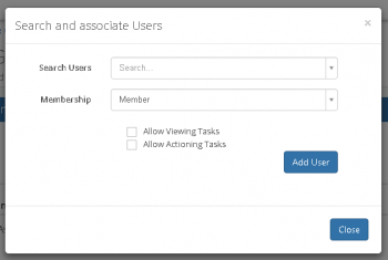 Associating Users to a Group